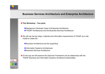 Business Services Architecture and Enterprise Architecture