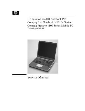 HP Pavilion ze4100 Notebook PC / Compaq Evo Notebook .