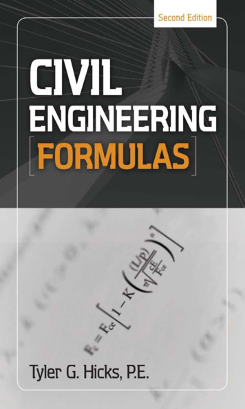 CIVIL FORMULAS - civil engineering