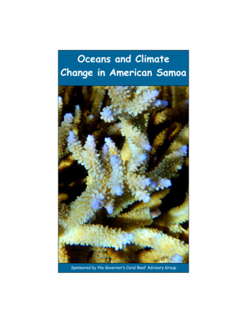 Oceans and Climate Change in American Samoa