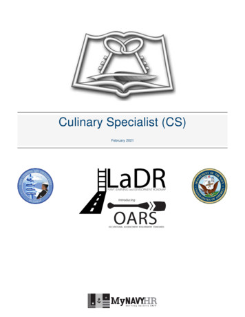 Culinary Specialist (CS) - United States Navy