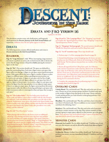 Errata and FAQ Version 1 - Fantasy Flight Games