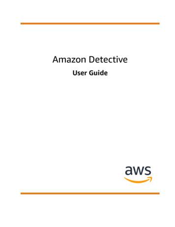 Amazon Detective - User Guide