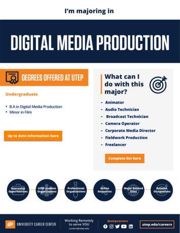 DIGITAL MEDIA PRODUCTION - UTEP