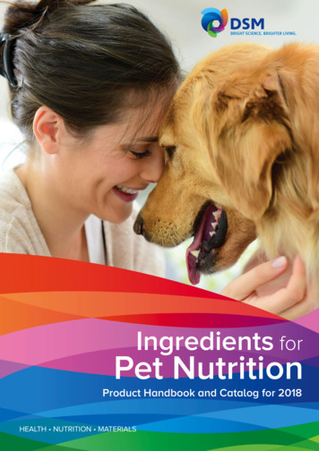 Ingredients for Pet Nutrition - DSM