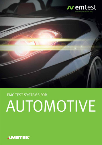 EMC TEST SYSTEMS FOR AUTOMOTIVE