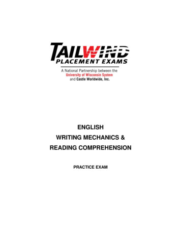 ENGLISH WRITING MECHANICS & READING COMPREHENSION