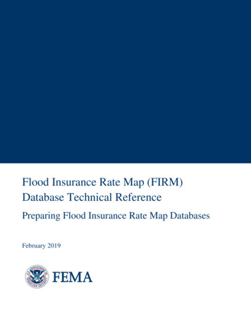 Flood Insurance Rate Map (FIRM) Database Technical Reference