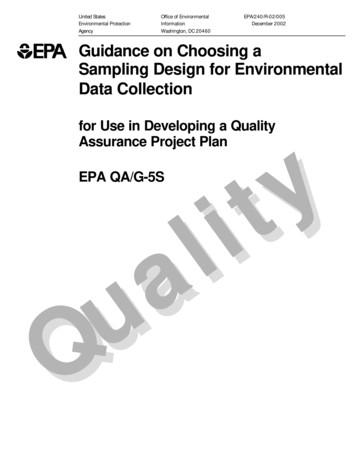 Guidance on Choosing a Sampling Design for Environmental .