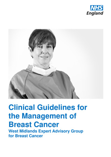 Clinical Guidelines for the Management of Breast Cancer