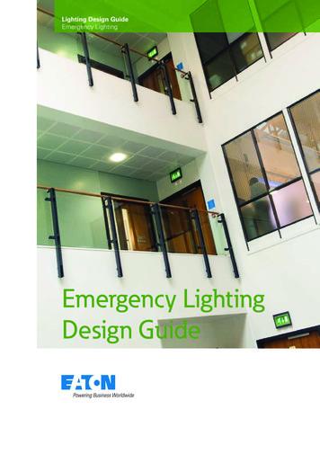 Emergency Lighting Design Guide - Eaton Electric