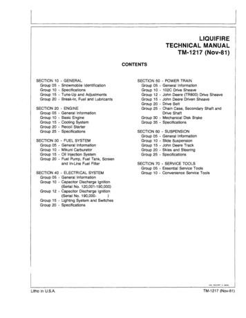 LIQUIFIRE TECHNICAL MANUAL TM-1217(Nov-81)