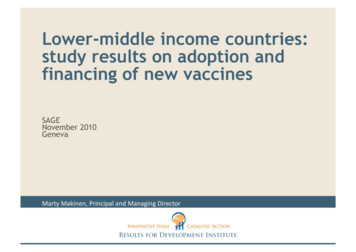 Lower-middle income countries: study results on adoption .