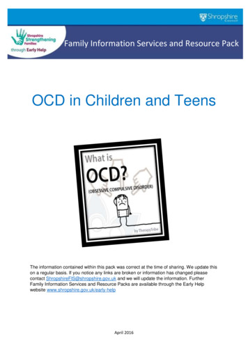 OCD in Children and Teens - Shropshire Council
