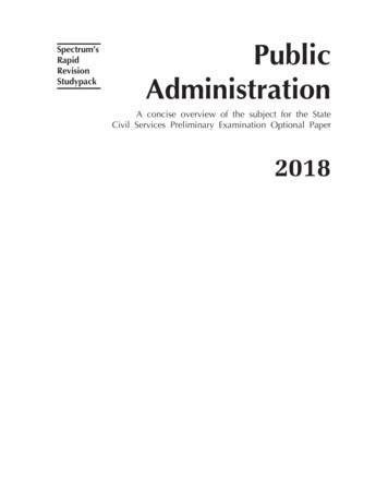 Spectrum's Rapid Public Revision Studypack Administration