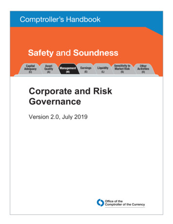 Corporate and Risk Governance - Office of the Comptroller .