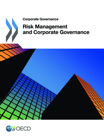 Risk Management and Corporate Governance - OECD