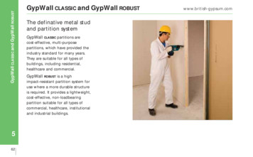 SITE BOOK - GypWall CLASSIC ROBUST - British Gypsum