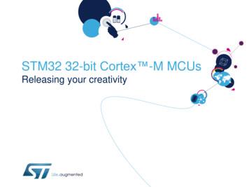 STM32 32-bit Cortex -M MCUs
