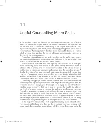 Useful Counselling Micro-Skills - SAGE Publications Ltd