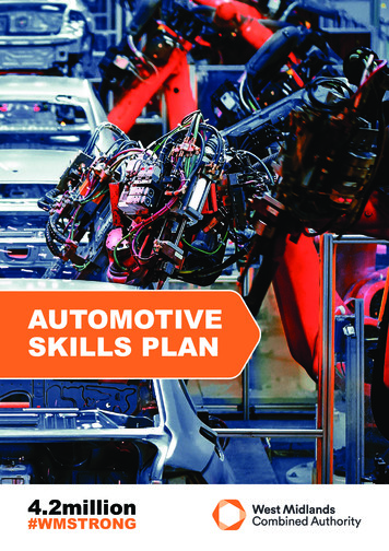 AUTOMOTIVE SKILLS PLAN - West Midlands Combined Authority