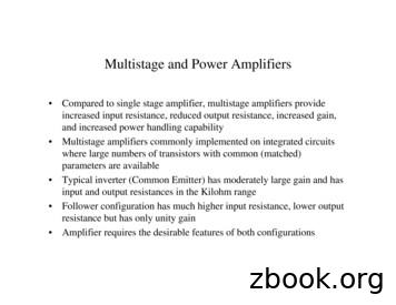 Multistage and Power Amplifiers - Carleton University