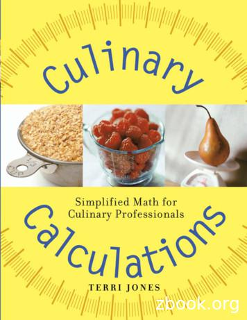 Culinary Calculations: Simplified Math for Culinary .