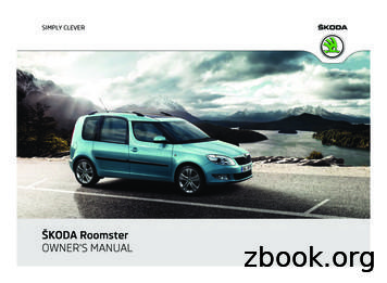 ŠKODA Roomster OWNER'S MANUAL