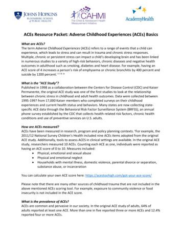 ACEs Resource Packet: Adverse Childhood Experiences (ACEs .