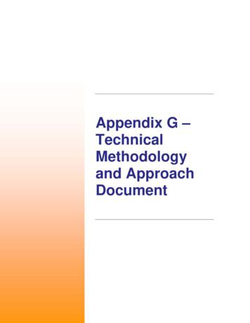 Appendix G – Technical Methodology and Approach Document