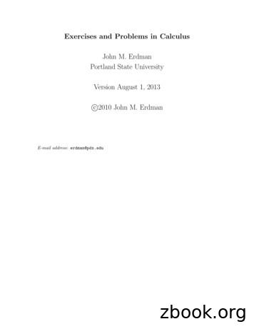 John M. Erdman Portland State University Version August 1 .