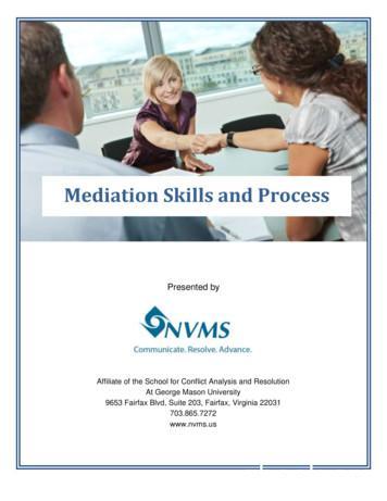 Mediation Skills and Process