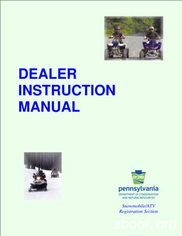 Dealer Instruction Manual 03-17