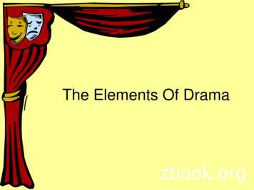 Elements Of Drama/Theatre