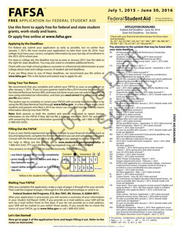 2015-2016 Free Application for Federal Student Aid