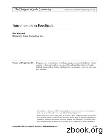 Introduction to Feedback - Designer's Guide
