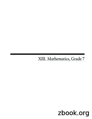 XIII. Mathematics, Grade 7