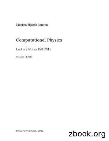 Computational Physics - College of Arts and Sciences