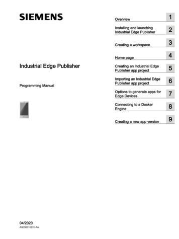 Industrial Edge Publisher - Siemens