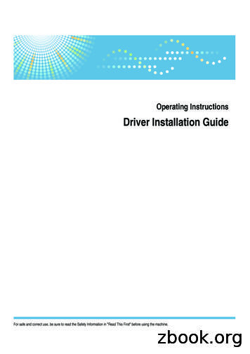 Driver Installation Guide