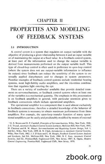 PROPERTIES AND MODELING OF FEEDBACK SYSTEMS