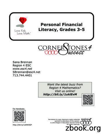 Personal Financial Literacy, Grades 3-5