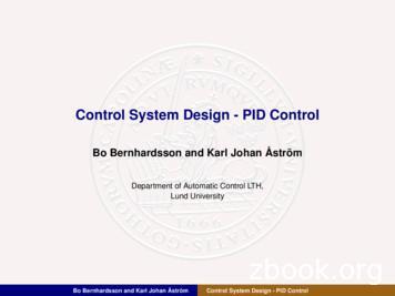 Control System Design - PID Control
