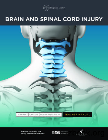 BRAIN AND SPINAL CORD INJURY - Spinal Cord & Brain Injury .
