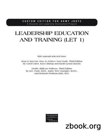 LEADERSHIP EDUCATION AND TRAINING (LET 1)