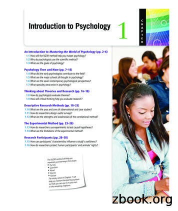 Introduction to Psychology 1 C - Higher Education Pearson