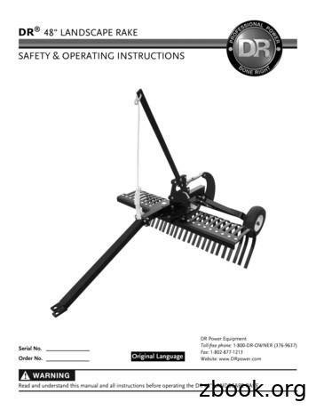 48 LANDSCAPE RAKE SAFETY & OPERATING INSTRUCTIONS