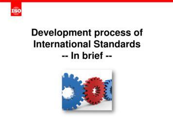 Development process of International Standards -- In brief