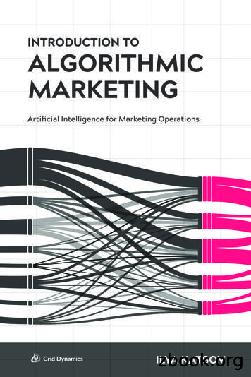 Introduction to Algorithmic Marketing: Artificial .
