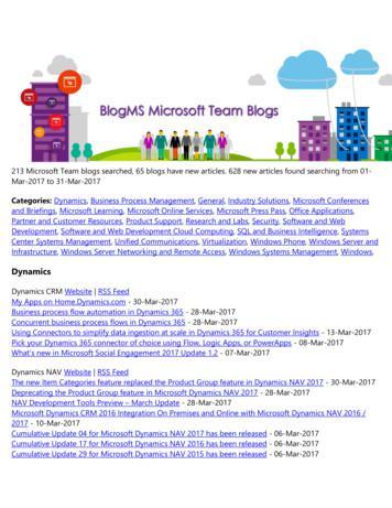 Dynamics - Microsoft